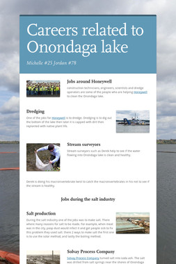 Careers related to Onondaga lake