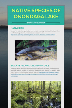 Native Species of Onondaga Lake