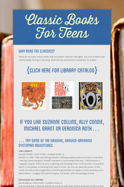 Classic Books For Teens