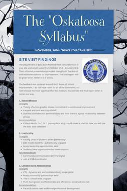 "The ""Oskaloosa Syllabus"""