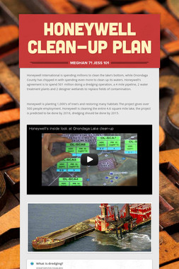 Honeywell Clean-up Plan