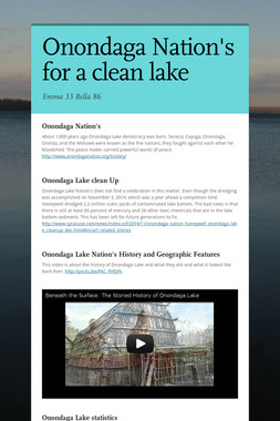 Onondaga Nation's for a clean lake