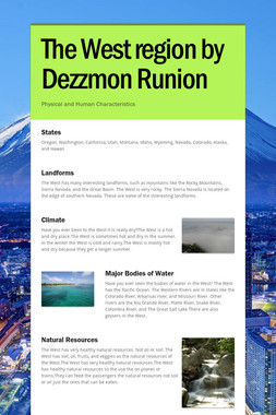 The West region by Dezzmon Runion