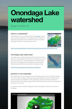 Onondaga Lake watershed