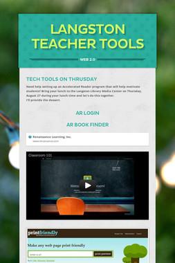 Langston Teacher Tools