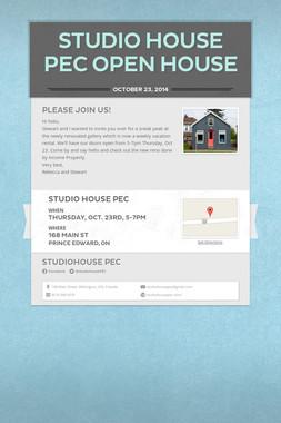 Studio House PEC Open House