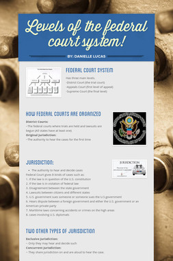 Levels of the federal court system!