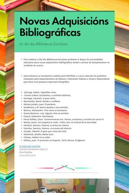 Novas Adquisicións Bibliográficas