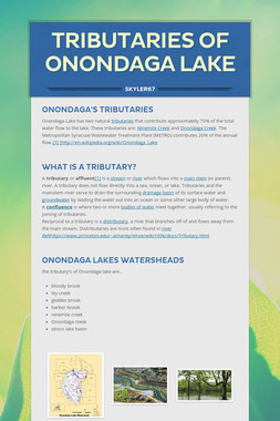 tributaries of Onondaga lake