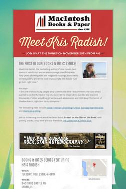 Meet Kris Radish!