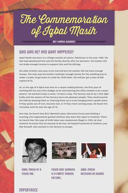 The Commemoration of Iqbal Masih