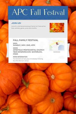 APC Fall Festival