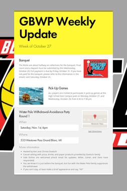 GBWP Weekly Update