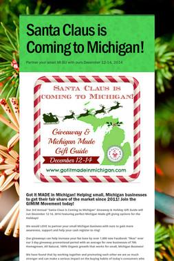 Santa Claus is Coming to Michigan!