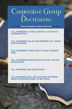 Cooperative Group Discussions