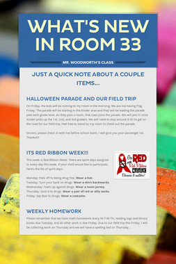 What's New In Room 33