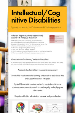 Intellectual/Cognitive Disabilities