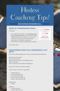 Hostess Coaching Tips!