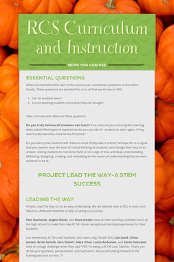 RCS Curriculum and Instruction