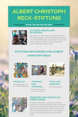 Albert Christoph Reck-Stiftung