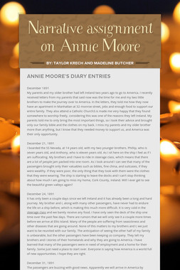 Narrative assignment on Annie Moore