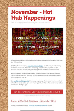 November - Hot Hub Happenings
