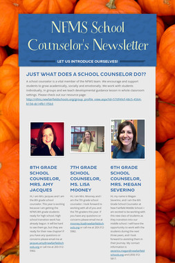 NFMS School Counselor's Newsletter