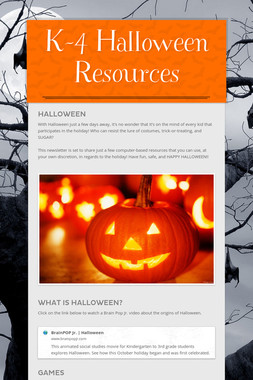 K-4 Halloween Resources