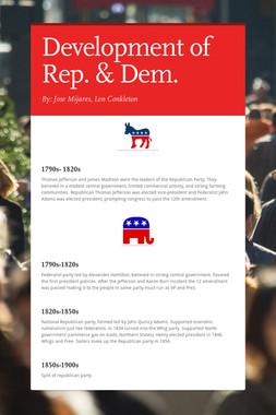 Development of Rep. & Dem.