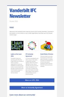 Vanderbilt IFC Newsletter