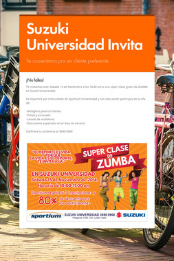 Suzuki Universidad Invita