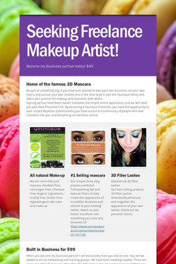 Seeking Freelance Makeup Artist!