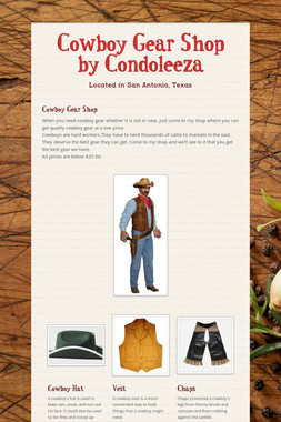 Cowboy Gear Shop by Condoleeza