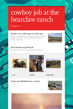 cowboy job at the bearclaw ranch