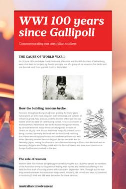 WW1 100 years since Gallipoli