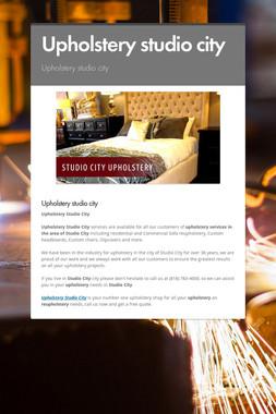 Upholstery studio city