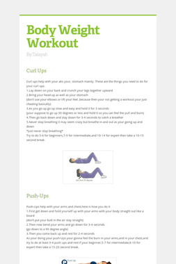 Body Weight Workout