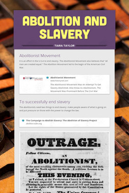 Abolition and Slavery