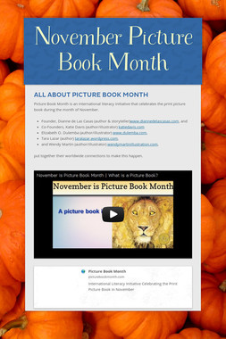 November Picture Book Month
