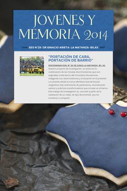 JOVENES  Y  MEMORIA 2014