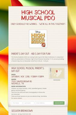 HIGH SCHOOL MUSICAL PDO