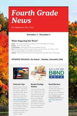 Fourth Grade News