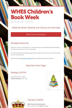 WHES Children's Book Week