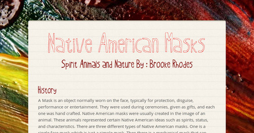Native American Masks | Smore Newsletters for Education