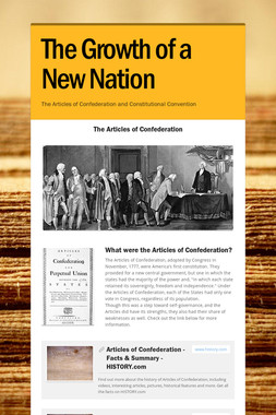 The Growth of a New Nation