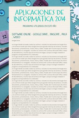 APLICACIONES DE INFORMÁTICA 2014