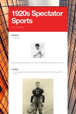 1920s Spectator Sports