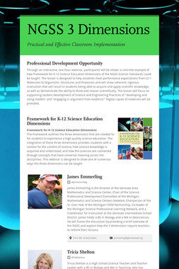 NGSS 3 Dimensions