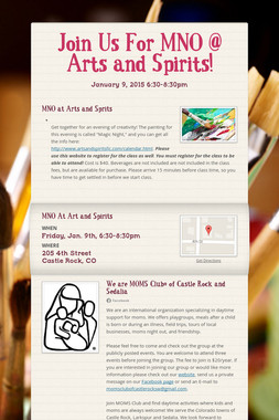 Join Us For MNO @ Arts and Spirits!