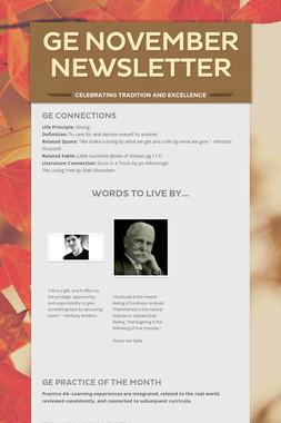 GE November Newsletter